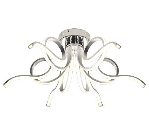 Dimmerabile XL LED plafoniera lampadario luce soggiorno salotto lusso 6 bracci bianco neutro design forma di spirale moderno 62cm Lewima Merwa