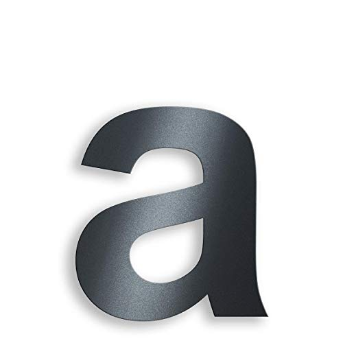 Metzler Edelstahl Hausnummer - RAL 7016 Anthrazitgrau Feinstruktur Pulverbeschichtet - Schrift Arial - Höhe 20 cm - Buchstabe a