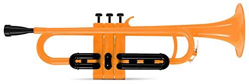 Classic Cantabile MardiBrass ABS Kunststoff Trompete - Perinet-Ventile - 510g leicht - Bohrung: 11,6 mm - inkl. Mundstück und Leichtkoffer - orange
