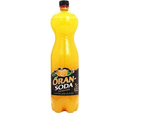 18x Oransoda PET 1 L Campari Flasche Orange Soda Limonade italienisch