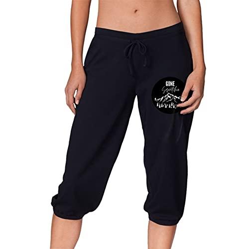 Gone Squatchin Series - Pantalones capri para mujer, para correr, gimnasio, fitness al aire libre
