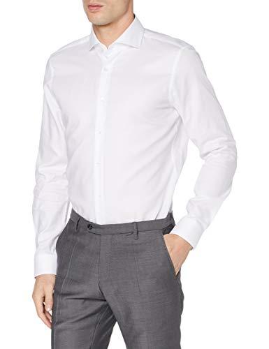 Strellson Premium Herren 11 Sereno 10005779 Businesshemd, Weiß (White 100), Kragenweite: 39 cm