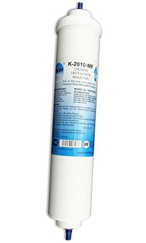 Wasserfilter für Side by Side Kühlschrank Samsung LG AEG Haier Externer Kühlschrankfilter Aktivkohle Filter