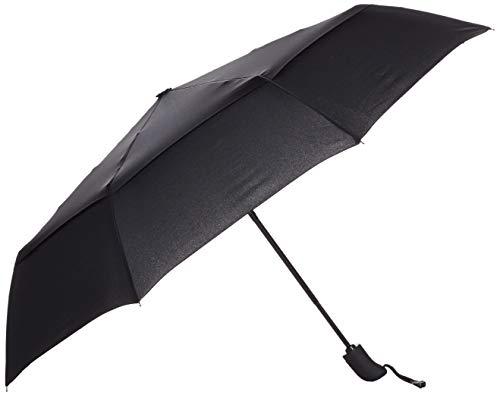 Amazon Basics Automatic Travel Small Compact Umbrella With Wind Vent - Black