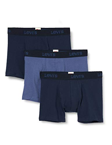 Levi's Mens Back In Session Men's Multipack (3 Pack) Boxer Briefs, Blue Combo, XL