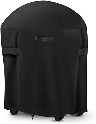 30-inch Round Smoker Cover, BBQ Grill Cover Kamado Cover Barrel Cover Fit for Smoker Grills Charcoal...