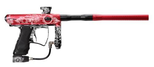 MacDev 2012 Drone DX Paintball Gun w/Militia 2.0 Laser Engraving - Red
