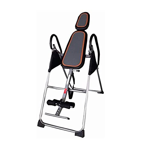 N&W Inverted Table - Heavy Duty Inversion Table Adjustable Stretcher Machine for Pain Relief Therapy Folding Gravity Inversion Multifunctional Inverted Stand Black