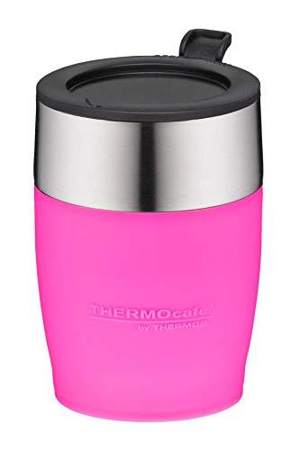 ThermoCafé by THERMOS 4064.244.025 DeskCup - Taza de café (acero inoxidable, 0,25 L, apta para muchas cafeteras automáticas, sin BPA), color rosa