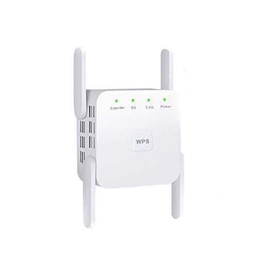 LYzpf Repeteur WiFi Répéteur Amplificateur de Signal 2.4/5GHz 1200Mbps Extension sans Fil Portée Routeurs Réseau Booster Accessoires Installation Facile