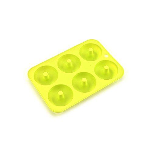 Molde de silicona para hornear, sin BPA, de calidad alimentaria, con 6 cavidades y horno de microondas, apto para lavavajillas Freezer Safe