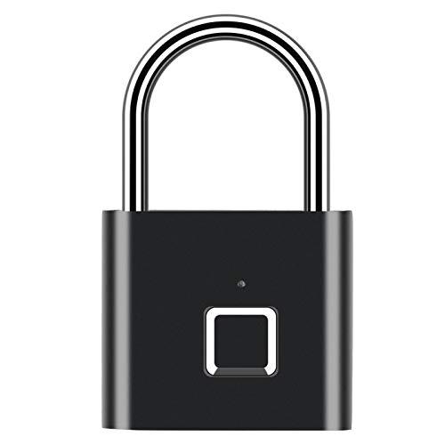 FEBT Cerradura de Puerta con Huella Dactilar, Cerradura de Puerta sin Llave Impermeable, Cerradura de Seguridad USB Recargable para Caja