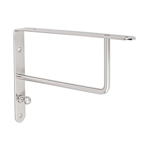 Design Garderobenkonsole Regalkonsole Regalträger Modell SINGA auf Stahl massiv | Edelstahl Finish | Tragkraft 40 kg | Möbelbeschläge von GedoTec®