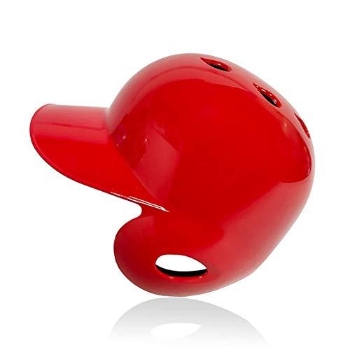 BUSUANZI Helm des Batter Weicher Ball Baseball Helm Doppel Klappe,Rot,L
