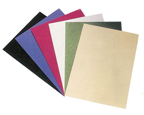 1-PACK Rückwände/Deckblätter genarbter Lederkarton, 250gr. A4, rot, 100 Stück