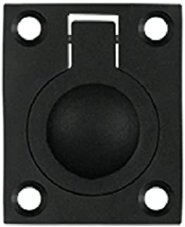 Deltana FRP175U19 1 3/4-Inch x 1 3/8-Inch Solid Brass with black finish Flush Ring Pull