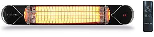 ELNUR GABARRON   Calefactor Infrarrojo IFC2000 De Lámpara De Fibra De Carbono Para Interior y Exterior   2000W   Instalación En Techo o Mural   Función De Tiempos   Larga Vida Útil Al Ser De Carbono