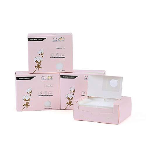Coussinets Maquillage Coton Maquillage Remover Coton Femme Visage Économie d'eau Section Mince Hydratant Mouillé Compresse Coton Pad 360 Pièce X4 Outil Nettoyage Visage (Color : Pink)