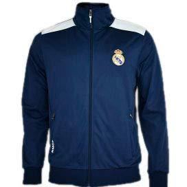 Real Madrid- Sudadera para Hombre, color Navy- White. Talla M