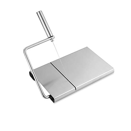 NewKelly Cheese Butter Slicer Stainless Steel Wire Cutter Board Cutting Kitchen Hand Tool, Great for Home Use