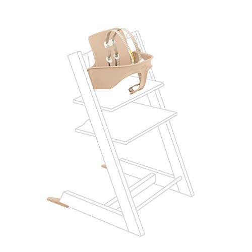 Tripp Trapp Baby Set from Stokke, Natural - Convert The Tripp Trapp Chair into High Chair - Removable Seat + Harness for 6-36 Months - Compatible with Tripp Trapp Models After May 2006