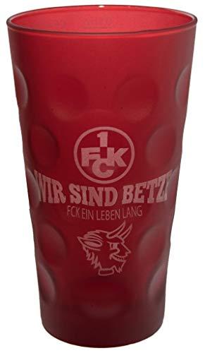 Beschdstoff 1. FC Kaiserslautern Dubbeglas Wir sind Betze 0,5 Liter rot (Dubbeglas-Shop)