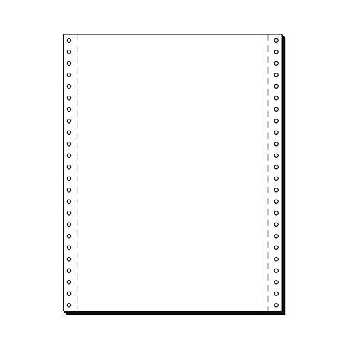 SCHÄFER SHOP Computer Endlospapier – 1fach A4 hoch - blanko Papier mit LP, Führungslochrand - 2000 Blatt, weiß
