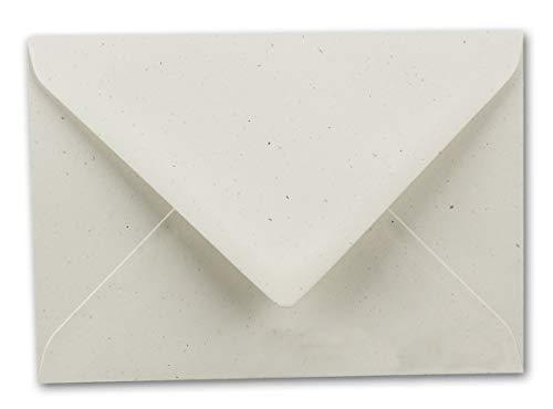 ARTOZ 50 x Briefumschläge DIN B6 - Farbe: Birch (Birke) - 12,5 x 17,8 cm - Kuvert ohne Fenster mit Nassklebung - Serie Greenline