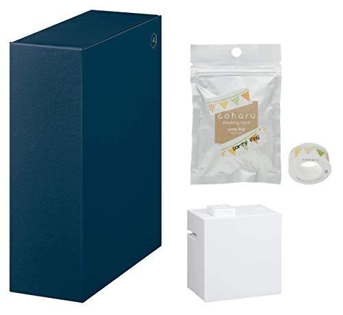 キングジム 収納ボックス ヒトトキM+[テプラ]Lite白+[こはる]テープ専用 HS4836ネイ+LR30白+MPT043 3個組み