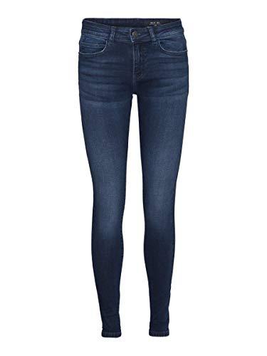 Noisy may Female Skinny Fit Jeans NMLUCY Normal Waist 3132Dark Blue Denim