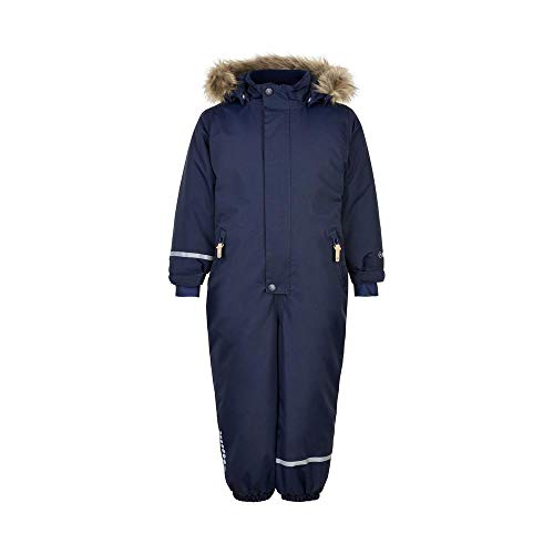 MINYMO Unisex-Child Snow Suit Tusser solid Snowsuit, Navy, 110