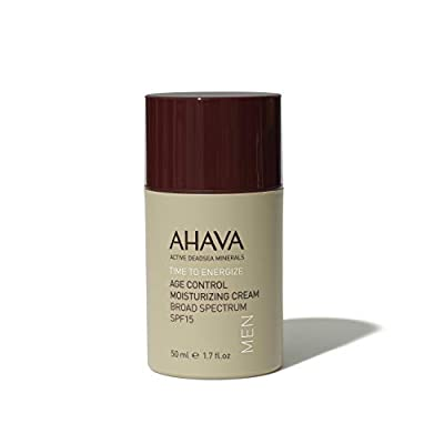 BEST ANTI AGING CREAM - AHAVA Men Age Control Moisturising Cream SPF15 50 ml Dead Sea Natural Anti Wrinkle Treatment - UV Protection Against the Effects of Weather and Environmental Damage from Dead Sea Laboratories Ltd