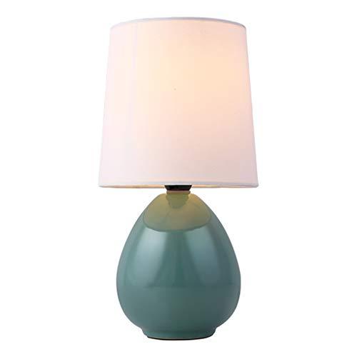 Moderno Fácil Lámpara de mesa Decorativo Lámpara de noche Clásico Cerámica Habitación Lámpara de noche Pantalla de tela Espacio de trabajo Lámpara de escritorio Creativo Pequeña Lámpara H25 * D11CM