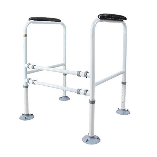 Cylficl Bad Geländer Ältere/Behinderte WC Handlauf Stand-Alone Saugnapf Toilette Rahmen Leitplanke Breite und Höhe verstellbar