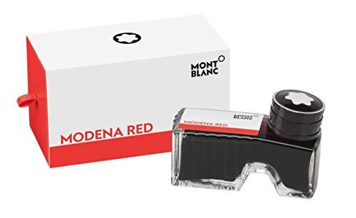 Montblanc Tintenfass Modena Red 119566 – Hochwertige Tinte im Rot der Mohnblume im Tintenglas 60 ml