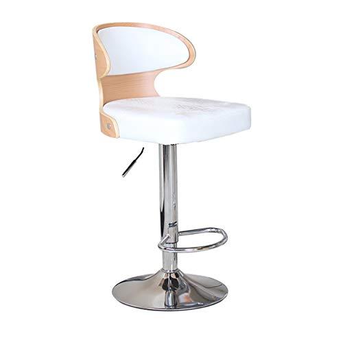 Bureaudraaistoel, in hoogte verstelbaar, moderne bureaustoel, werkstoel voor thuis, comfortabel bekleed, leer, computerstoel Wit