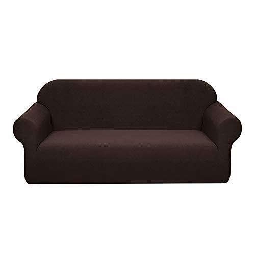 Granbest Sofaüberwurf für 3-Sitzer, elastisch, wasserdicht, aus superweichem Stoff, universell für Katzen und Hunde Divano Schokobraun