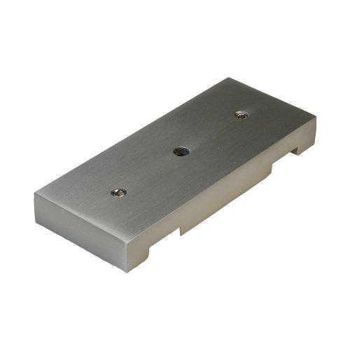 Liedeco Deckenträger 2-läufig, für eckige Stilgarnitur, Flächenvorhangschiene Cubis | Nickel-matt | 1 Stück