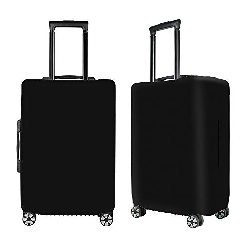 Washable Luggage Covers Spandex Suitcase Covers Protective Fits 19-33inch Luggage Zipper Carry On Travel Covers Black