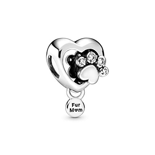 Pandora Funkelndes Hundepfotenabdruck & Herz Charm