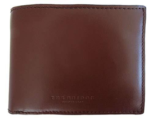 Portafoglio The Bridge uomo porta carte di credito monete pelle marrone Made in Italy 10x13x2 cm 414808B1