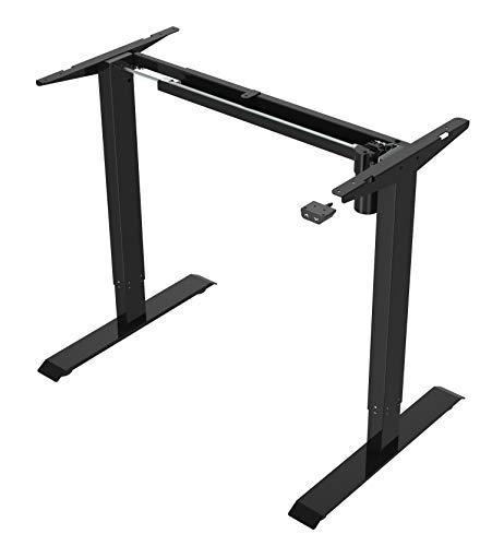 Stelaż biurka elektrycznego z regulacją wysokości do 121 cm, udźwig 70kg, 2-stopniowa kolumna, łatwy montaż,ergonomiczne elektryczne biurko komputerowe Spacetronik SPE-114 (czarny)