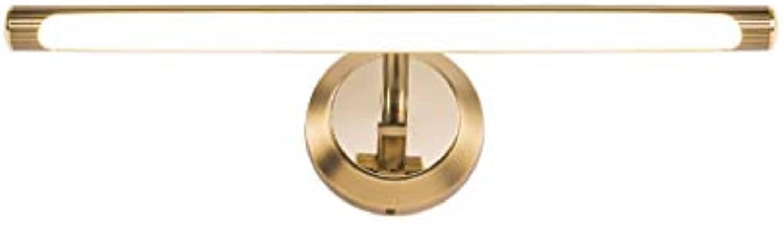 LQ Spiegel Frontlampe Led Bad Waschen Lampe Retro Bad Spiegel Schrank Schminktisch Lampe Make-Up Lampe (Farbe   A)
