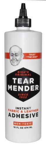Tear Mender Instant Fabric And Leather Adhesive, 16 Oz Bottle, Tg-16