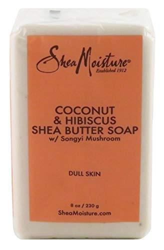 Shea Moisture Soap 8 Ounce Bar Coconut & Hibiscus Shea Butter (235ml) (3 Pack)