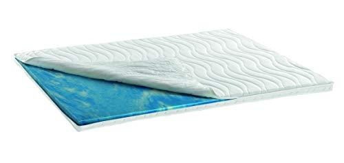 snoozo | Gel-Schaum Topper Matratzenauflage | 7cm Gesamthöhe | waschbarer Bezug | Raumgewicht RG 50 (90 x 200 cm)