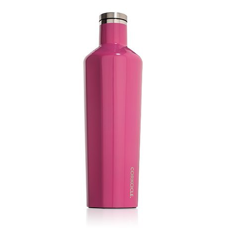 Corkcicle Canteen - Water Bottle and Thermos - Keeps Beverages Cold for Over 25, Hot for Over 12 Hours - Triple Insulated with Shatterproof Stainless Steel Construction - Pink - 25 oz.