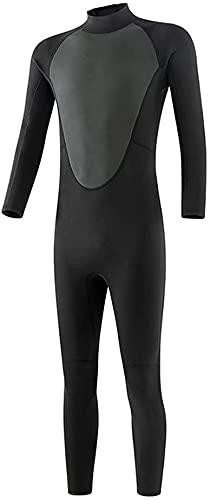 Neoprenos KKY-Enter Traje de Buceo Ultra estirado 3 mm, Espalda con Cremallera Cuerpo Completo para Hombres Mujeres Buceo, natación, Surfing Watersports al Aire Libre (Color : XXL)