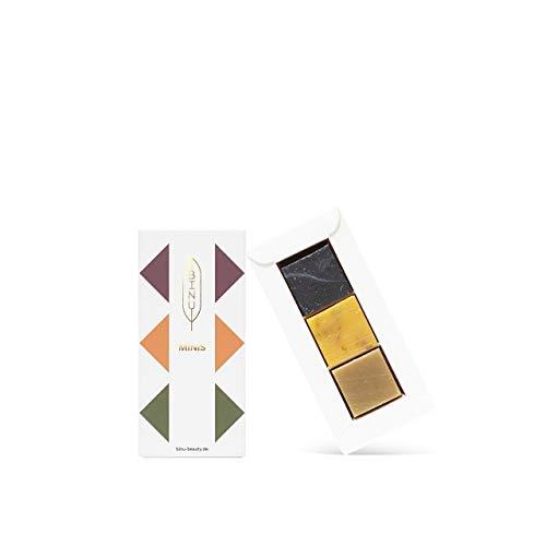 BINU Minis   drei Sorten Gesichtsseifen   100% natürlich   Kleine Naturseifen zum Verschenken und Reisen   handgemachte Seifenwürfel zum Testen & Reisen   Seifenpralinen