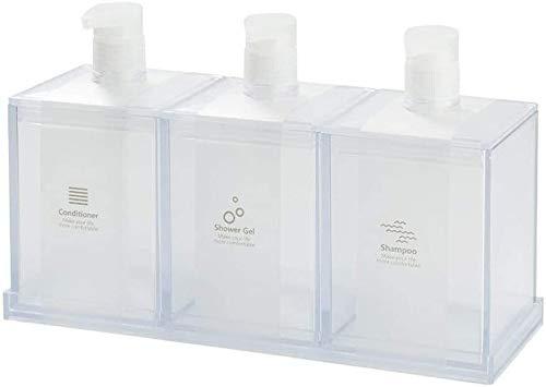HLZY Dispensadores de jabón de encimera de baño, Dispensador de jabón Dispensadores de jabón Tipo de Empuje Botellas de Bombeo Dispensador de jabón para Cocina, encimera de baño (Color : Clear)